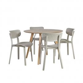 Söögilauakomplekt HELENA 4-tooliga