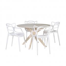 Söögilauakomplekt JENNA 4-tooliga