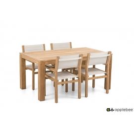 Aiamööbli komplekt Apple Bee FRÉJUS tiik, 4 tooli + laud