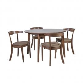 Söögilauakomplekt ADELE laud ja 4 tooli
