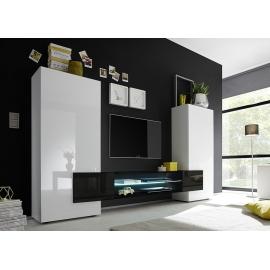 Sektsioon INCASTRO valge / must, 258x37xH143 cm, LED