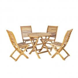 Aiamööblikomplekt CHERRY laud ja 4 tooli