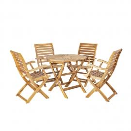 Aiamööblikomplekt CHERRY laud ja 4 tooli (13326) kokkupandav