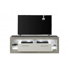 Tv-alus ROCK valge läige / hall, 150x44xH48 cm