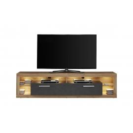 Tv-alus ROCK tumehall / tamm, 200x44xH48 cm