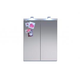 Peegelkapp NIGHTLIFE valge kõrgläikega, 65x21xH80 cm