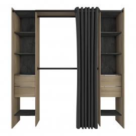 Garderoobisüsteem DANA tamm, 115-190x50xH203 cm
