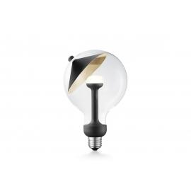 LED lamp MOVE ME cone must / kuldne, 3W, E27, 2700K