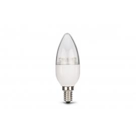 LED lamp CANDLE valge, D4xH10 cm, 5,7W, E14, 2700K, reguleeritav