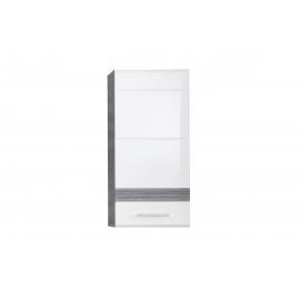 Seinakapp SET-ONE valge lige / tumehall, 37x24xH77 cm