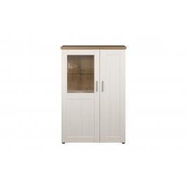 Vitriinkapp SHADE valge mänd / tamm, 95x38xH140 cm