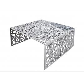 Diivanilaud ABSTRACT hõbe, 60x60xH32 cm