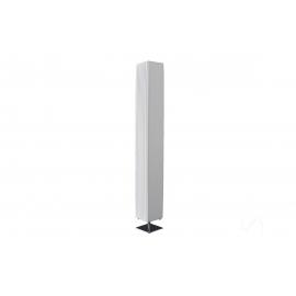 Põrandavalgusti PARIS valge / hõbe, 15x15xH120 cm