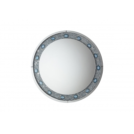 Seinapeegel DIAMONDS hõbe / sinine, 100x4xH100 cm