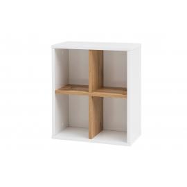 Seinariiul PADUA valge / tamm, 41x21xH48 cm