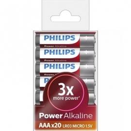 Patarei Philips LR03P AAA Power Alkaline (20 tk)