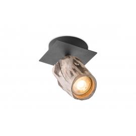 Kohtvalgusti WOOD puit / must, D10xH14,5 cm, LED