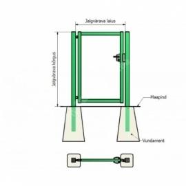Jalgvärava raam 1x1,5 m zn+RAL6005