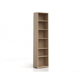 Raamaturiiul Office tamm, 52,5x35xH221 cm