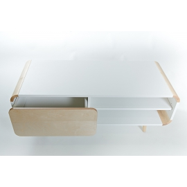 TV-alus FUN valge, 112,5x45,5xH44,5 cm