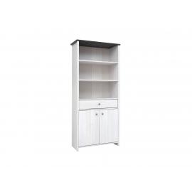 Raamaturiiul valge, 88,5x40xH199,5 cm