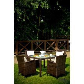 Aiamööbli komplekt Bello Giardino PAZZO tumepruun, 4 tooli + laud