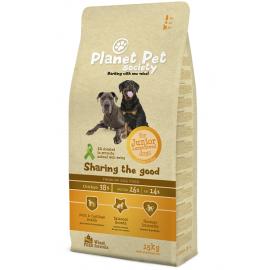 Planet Pet Society koeratoit suurt tõugu noortele koertele kanalihaga 15kg