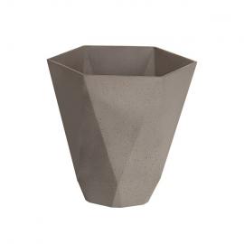 Lillepott SANDSTONE 29,5x29,5xH28,5cm, pruun