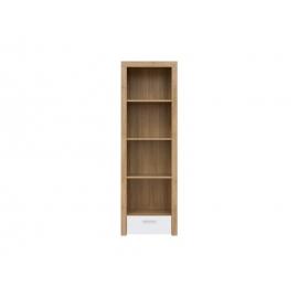 Raamaturiiul BALDER tamm / valge, 62x39xH192 cm