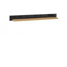Seinariiul AROSA tamm / must, 150x25,5xH14 cm