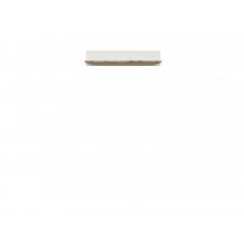 Seinariiul HOLTEN valge / tamm, 106x24xH22 cm