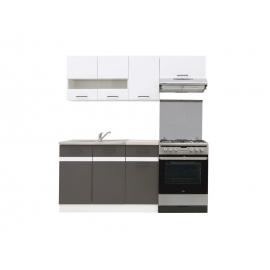 Köögimööbli komplekt JUNONA LINE 180 cm valge / hall