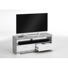 TV-alus Bristol 5, 120x35xH50 cm, betoon/valge läige
