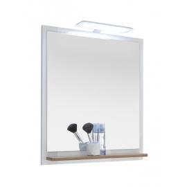 Peegel NOVENTA valge / tamm 60x15,5x74,5 cm