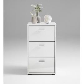 Öökapp VIRGINIA 1 UP valge kõrgläige, 35x40xH62,5 cm