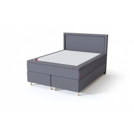 Sleepwell BLACK CONTINENTAL kontinentaalvoodi 160x200x54 cm, punakaspruun