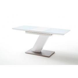 Laud GALINA valge läikega, 140-180x80xH76 cm