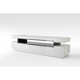 Tv-alus LAURA valge läige / hall, 200x50xH52 cm