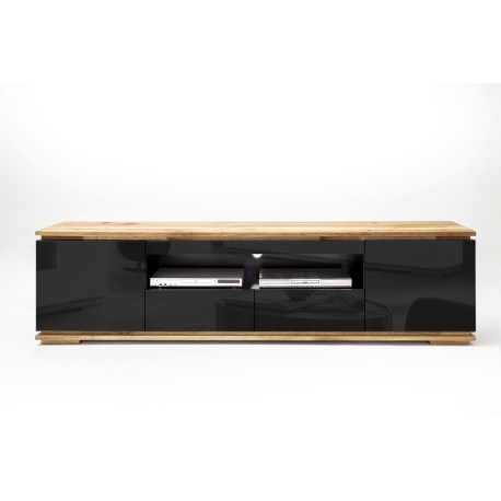Tv-alus CHIARO must läige/ tamm, 202x40xH54 cm