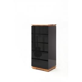 Kummut CHIARO must läige / tamm, 51x40xH115 cm