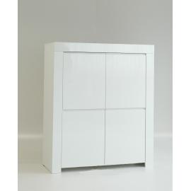 Kapp AMALFI valge läikega, 120x50xH140 cm