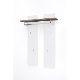 Seinanagi ROMINA valge / tamm, 91x25xH135 cm