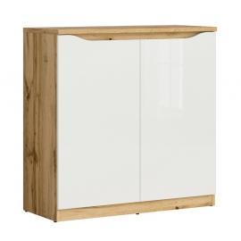 Kummut NUIS valge läige / tamm, 90x39,5xH91,5 cm