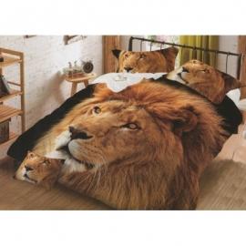 3D 3 osaline voodipesukomplekt Lõvi , 160x200 cm