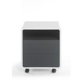 Sahtliboks TADEO valge / antratsiit, 47x38xH55 cm