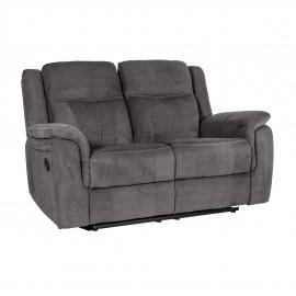 Diivan NORMAN 2-kohaline recliner 160x99xH102cm, tumehall