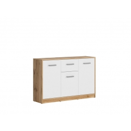 Kummut valge / tamm, 118,5x34xH78,5 cm