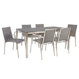 Aiamööblikomplekt BEVERLY laud ja 6 tooli