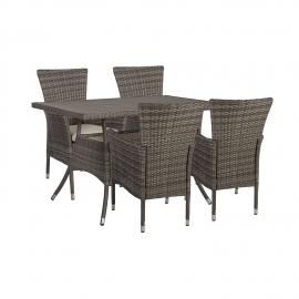 Aiamööbli komplekt PALOMA laud ja 4 tooli