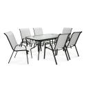 Aiamööbli komplekt DUBLIN laud ja 6 tooli